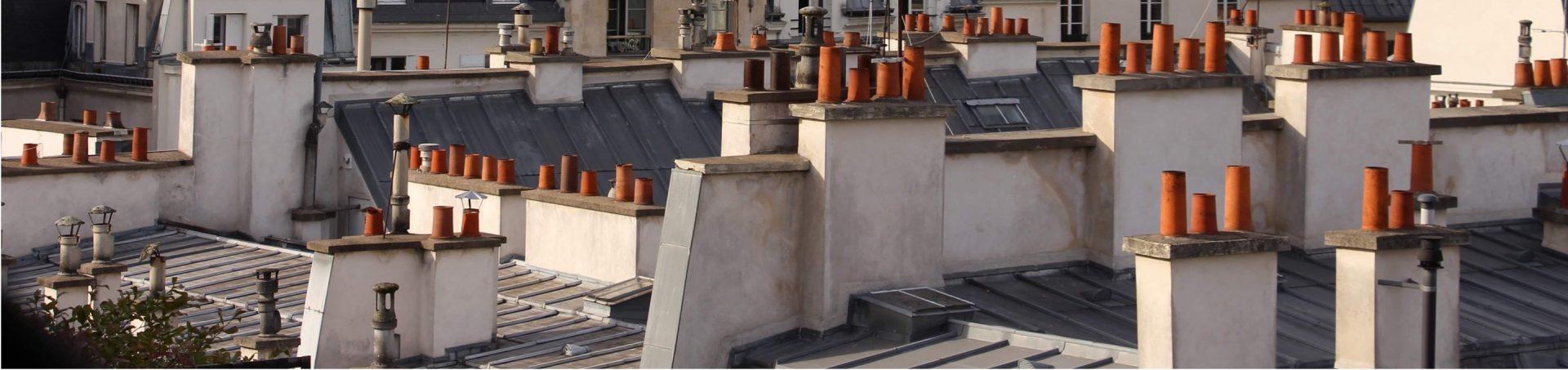 Vue des toits de Paris
