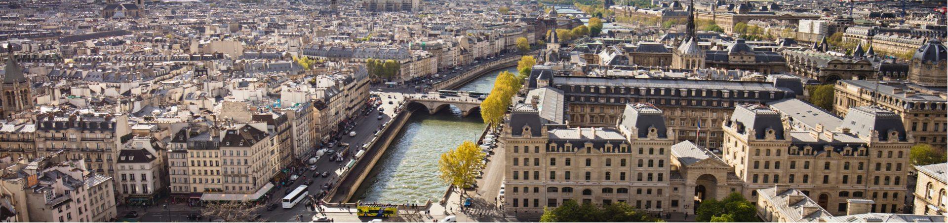 Vue du ciel de Paris