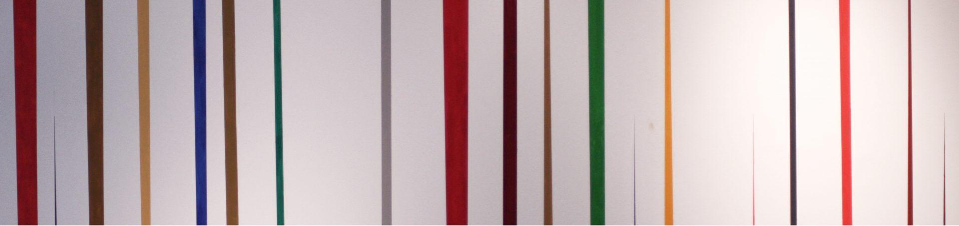 Des traits de couleur vertical